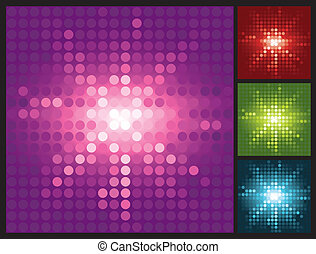 abstract lights background with halftone sunburst
