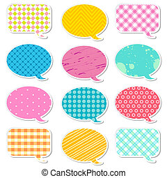 Chat Bubble - illustration of chat bubble with different...