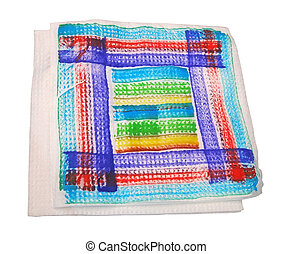 color serviette isolated, tissue diversity - color serviette...