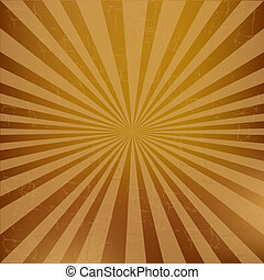 Vintage Sunburst Background, Vector Illustration