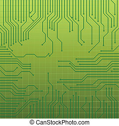 Circuit board - Green circuit board for technology...