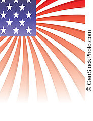 Background with elements of USA flag, vector illustration...