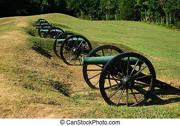 artilharia, bateria