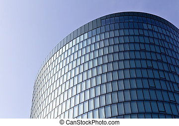 Glass facade - A modern glass facade with an almost...