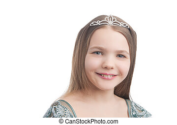 smiling little girl with teeth braces