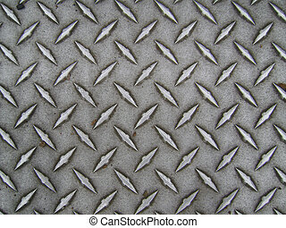 Diamond Plate Texture - A worn diamond plate background.