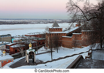 Nizhny Novgorod kremlin at winter