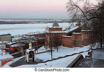 Nizhny Novgorod kremlin at winter