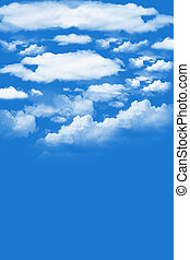 Fluffy Clouds - White fluffy clouds floating in a blue sky