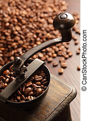 Coffee grinder - Photo of an antique coffee grinder with...