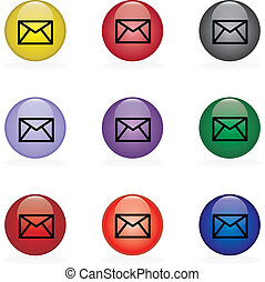Contact Us - Email  in difrent colors