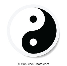 yin yang symbol as sticker.