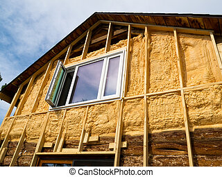 Spray foam insulation conserves energy - Renovation of old...