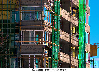 Under construction building - Under construction many...