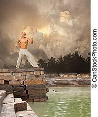 Martial Arts Tranquility Background - Image of Martial Arts...