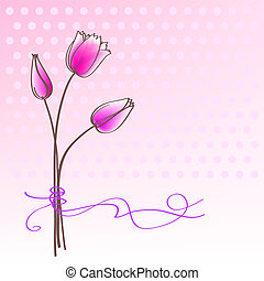 Greeting floral card