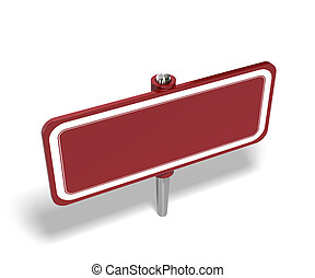 red tag over a white background, the panel is empty