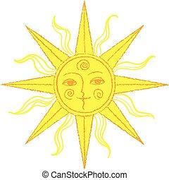 vector stylized sun
