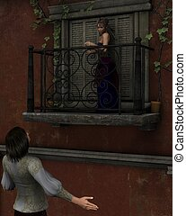 Romeo and Juliet - balcony scene - Romeo and Juliet...