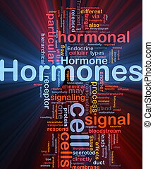 Hormones hormonal background concept glowing - Background...