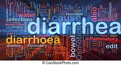 Diarrea, Diarrea, Plano de fondo, concepto, encendido
