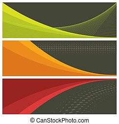 abstract banners (headers), vector illustration