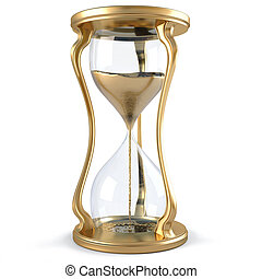 hourglass - gold hourglass with golden stream flowing down....
