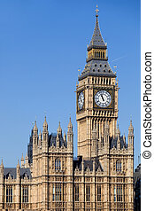 big ben - london, big ben clock at the westminster city