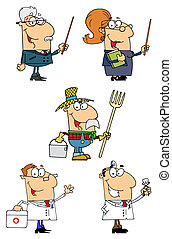 People Collection 3 - People Of Different Professions-Vector...