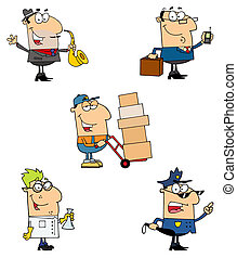 People Collection 4 - People Of Different Professions-Vector...
