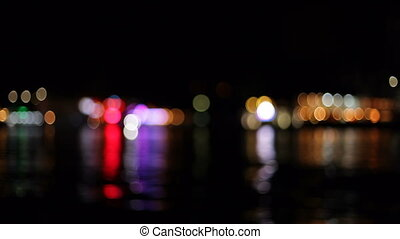 City lights in the defocusing