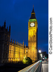 Big Ben -  Big Ben and Westminster Bridge in London