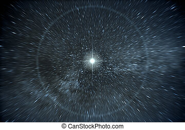 stars time warp - An image of a time warp stars background