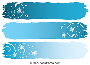 grungy winter banners