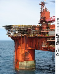 Oil rig - A large North Sea oil rig