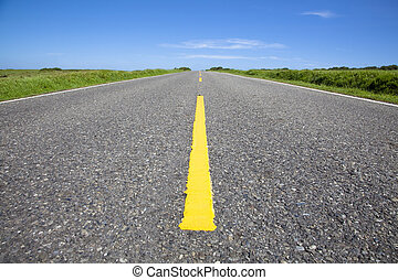close up surface of empty road