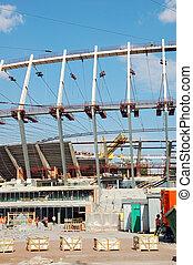 建設, 站點, 體育場