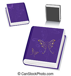 book with a butterfly gold