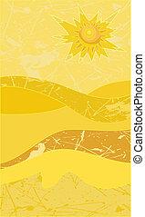 sunny desert grunge