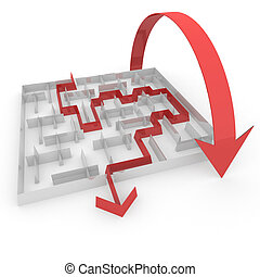 pass the maze - several ways to pass the maze