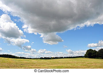 cloud scape - view of a beautiful cloud scape in wicklow...