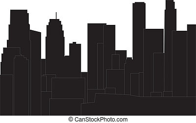 los angeles - los angelos skyline