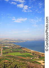 Sea of Galilee Kineret lake - View of the sea of Galilee...