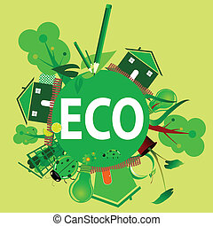 eco icon vector illustration