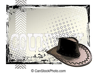 western poster - illustration of the cowboy hat