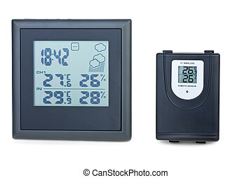 Modern digital weather station with external RF sensor...