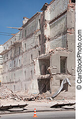 Destroyed building, demolition, earthquake, bomb,...