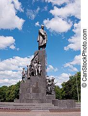 Monument to Taras Shevchenko in Kharkov, Ukraine - Monument...