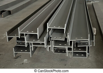 Metal profiles stack on shelf