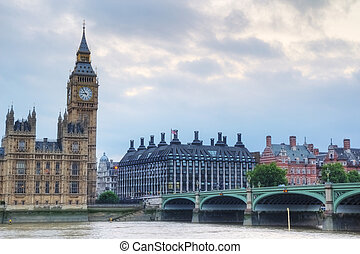 Westminster - London, Houses of the Parliament, Big Ben and...